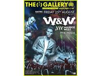 W&W @ Ministry of Sound Tickets (August 25th)