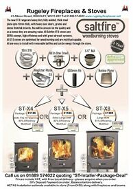 Unbeatable Saltfire ST-X8 Multifuel stove & Flue Package deal, Eco Design ready
