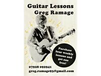 Guitar Tuition - Greg Ramage