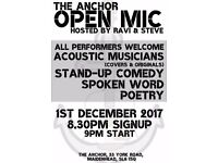 Open Mic Night at The Anchor - 01.12.17!