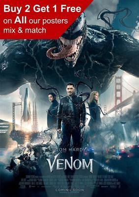 Venom 2018 Movie Poster A5 A4 A3 A2 A1