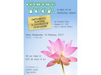 Partickhill BEGINNING YOGA. Block of 6 introductory Iyengar classes. Wed 10-11