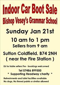 Indoor Car Boot / Carboot Sale - Bishop Vesey's Grammar School