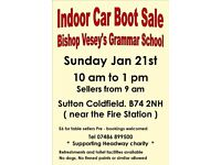 Indoor Car Boot / Carboot Sale - Bishop Vesey's Grammar School