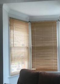 Wooden Venetian blinds x 3 - for a bay window