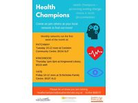 Health Champions promoting healthy lifestyle