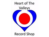 2nd HAND RECORDS FOR SALE @ HEART OF THE VALLEYS RECORD STORE.