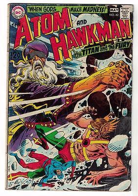 DC Comic ATOM Silver age  #42 Hawkman VG+  superman 1968