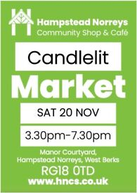 Candlelit Market, Hampstead Norreys Community Shop
