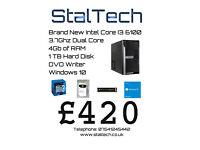Intel Core i3 6100 Skylake Desktop PC with 4Gb RAM and 1TB Hard Disk