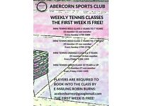 First week free! Weekly Junior Tennis Classes, Abercorn Sports Club, Abercorn Cres Edinburgh EH8 7HZ