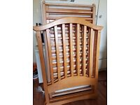 Wooden Cot with immaculate hardly used mattress