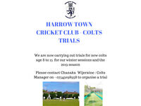 COLTS CRICKET TRIAL - AGE 8-15 @ HARROW TOWN CRICKET CLUB
