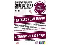 Free A Level and GCSE support from university students