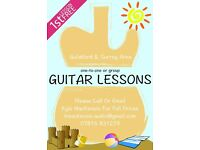 Guitar Lessons with Friendly, Patient and Experienced YAMAHA Accredited Teacher. First Lesson FREE!