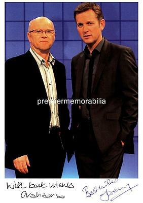 THE JEREMY KYLE SHOW JEREMY KYLE & GRAHAM STANIER SIGNED (PRINTED) A4 PRINT