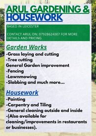 Quality Gardening and Housework services available, based in Leicester