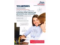 Volunteer Caseworkers required for Rhondda Cynon Taf for RAF Association