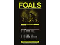 Foals standing tickets, Olympia London, Saturday 30th April 2022