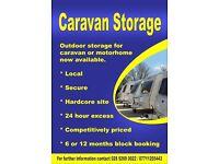 Outdoor Caravan/Motorhome storage