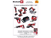 Einhell 8 piece kit £456 inv vat