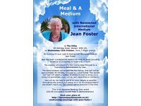 Meal & A Medium with Jean Foster at The Dilke Walsall on 11 October