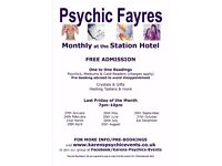 Psychic Fayre at the Station Hotel Dudley on 26 May