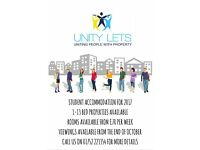 Unity Lets Student Accommodation 2017 1,2,3,4,5,6,7,8,9 bedroom Houses all inclusive & ensuite rooms