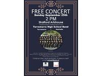 FREE Concert Stratford ArtsHouse Australian Turramurra HS Band