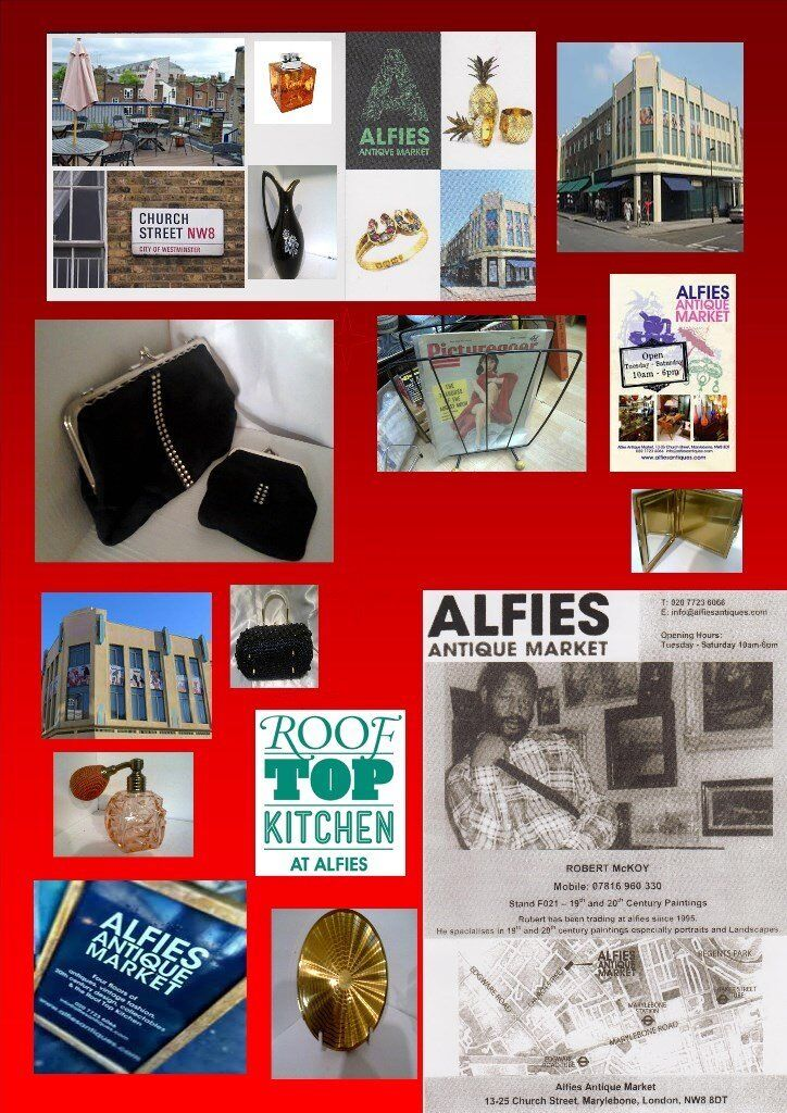 Alfies Antique Market and Rooftop Kitchen/Café open Tuesday - Saturday