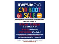 Tewkesbury School Car Boot Sale