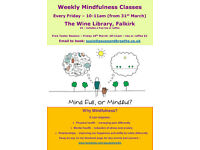 Mindfulness Free Taster Session at The Wine Library, Falkirk - Friday 24th March 10-11am