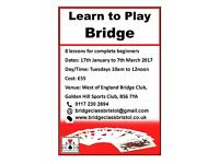 LEARN TO PLAY BRIDGE - New Beginners Course