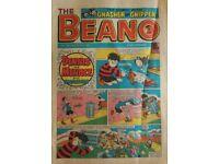 TRUE VINTAGE BEANO COMIC DENNIS THE MENACE GNASHER GNIPPER Magazine 22 August 1987 Edition No. 2353