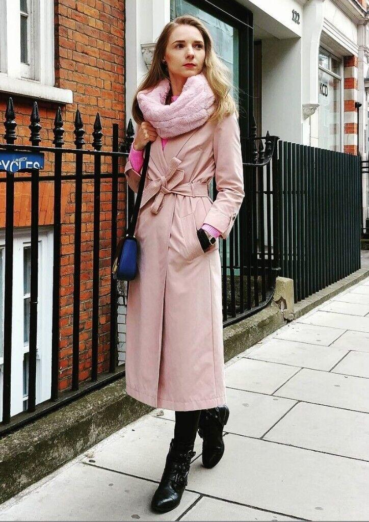 da6a34dc5f72a Nude Pink, Light Dusty Pink Coat London Size 4 32   in Hendon, London    Gumtree