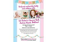Preloved Maternity Baby & Childrens Sale, St Peters Chucrh, Antrim Rd Belfast Sat 4th Feb 10am - 12