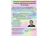 Fanastic Solution-Focused Coaching with Drama for Dyspraxics 16+ on zoom!
