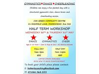 Half Term Gymnastics, Cheerleading and Dance Workshop - Wednesday 30th May and Thursday 31st May