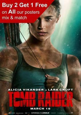 Tomb Raider 2018 Teaser Poster A5 A4 A3 A2 A1