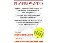 Sparta Floorball Club looking for new players.