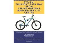 Boardman Bike wanted back - Stolen Thursday 24th May MCR City Centre