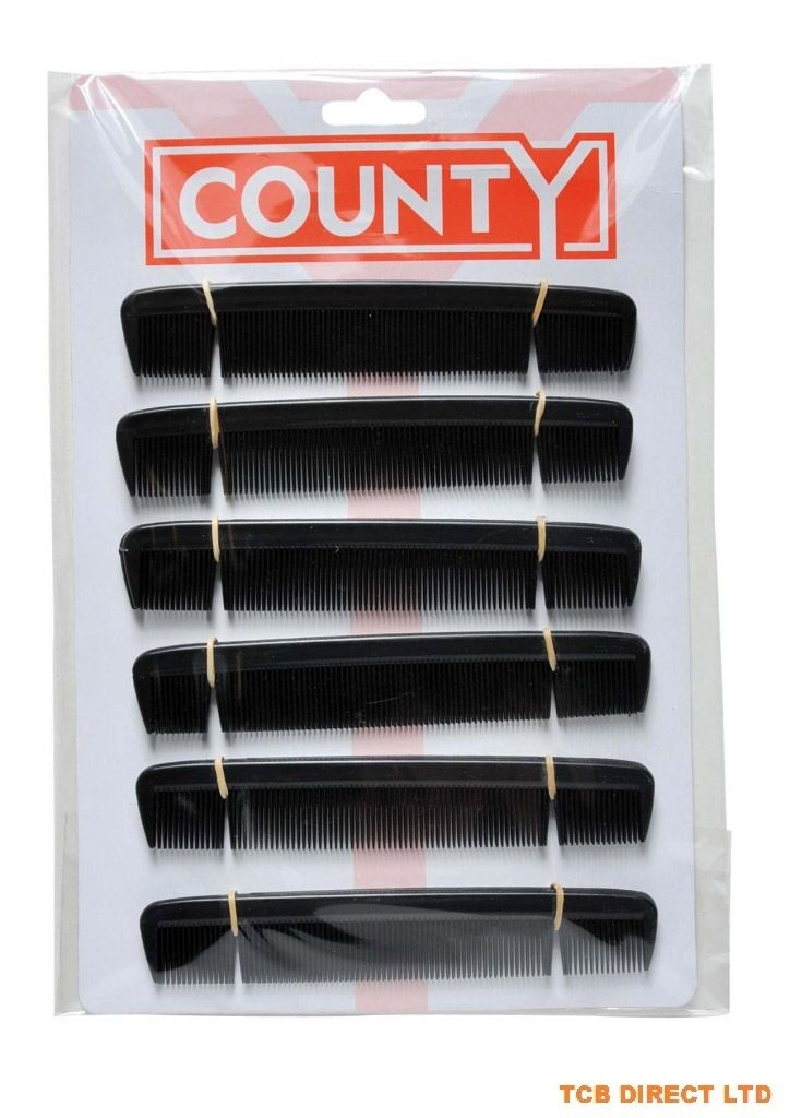 MENS BLACK HAIR COMBS 6 INCH PACKS OF 1 2 4 6 8 10 12 24