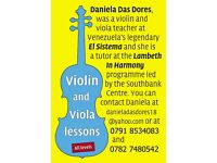 Violin and Viola lessons ALL LEVELS