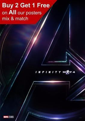 Marvel Avengers Infinity War Teaser Poster A5 A4 A3 A2 A1
