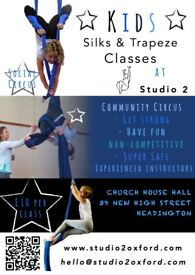 Aerial Silks/Trapeze ages 8-15