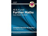 CGP New AS & A-Level Further Maths Edexcel: Revision & Practice with Online--- BRAND NEW