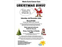 Christmas Bingo in aid of Marie Curie Cancer Care