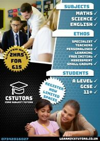 £15 for 2hrs Tuition | 1/2 Price Limited Offer | A LEVEL, GCSE and 11+