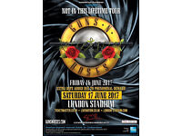 2 X GUNS N ROSES 'NOT IN THIS LIFETIME TOUR' GOLDEN CIRCLE TICKETS SAT 17TH JUNE LONDON STADIUM