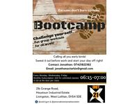 "Early morning ""Bootcamp""! Get your work out in before work!"